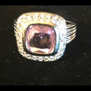 Pink crystal Sz. 8 ring